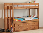 724 Twin/Twin Tall Bunk Bed with 7940NR