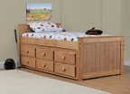 734 Twin Captains Bed with 7940 Six Drawer