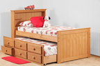 796 Twin Captains Bed with 7933 Trundle