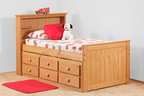 796 Twin Captains Bed with 7940 6 Drawer UBC