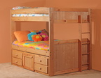 726 Full/Full Tall Bunk Bed with 7939NR