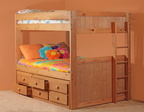 726 Full/Full Tall Bunk Bed with 7940NR