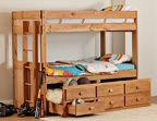 724 Twin/ Twin Tall Bunk Bed with 7933NR Trundle