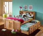 797 Full Bookcase Captain's bed with a 7933 Trundle