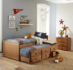 734 Twin Panel Captain's Bed 7933 Trundle 7597 Jumbo 3-Drawer Chest