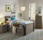 236 Twin Panel Captain's Bed 241 Under Bed 2952 Nightstand 2958 Jumbo 5-Drawer Chest
